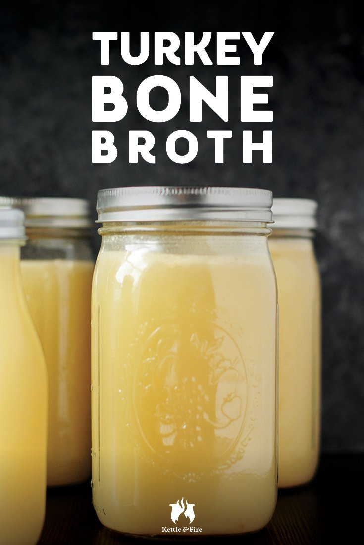 titled image (and shown) Turkey Bone Broth