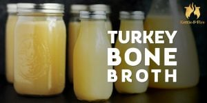 titled image (and shown) Turkey bone broth recipe