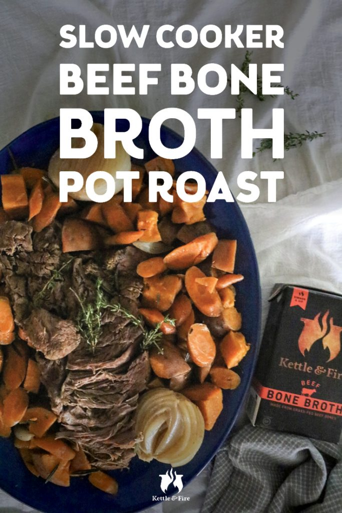 Slow Cooker Pot Roast With Beef Bone Broth pin