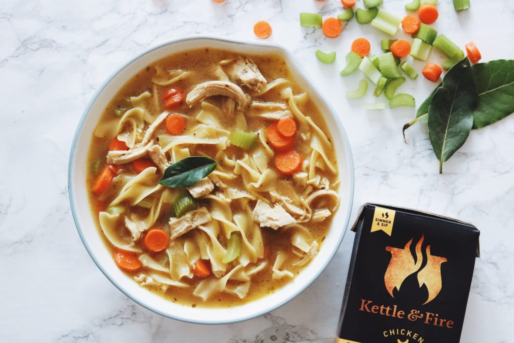 Hearty Bone Broth Chicken Noodle Soup