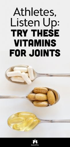 Vitamins for Joints That Take a Beating! Athletes, this one is for you. #jointhealth #vitamins #supplements #wellness #athletes #healthy