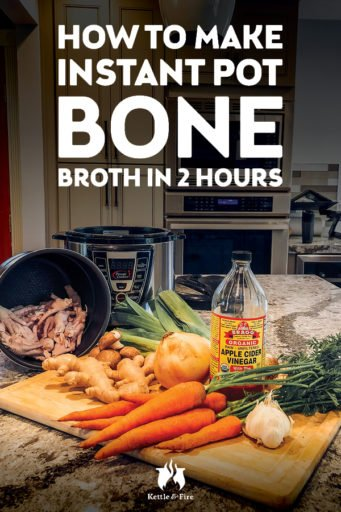 How to make instant pot bone broth in 2 hours #bonebroth #guthealth #instantpot