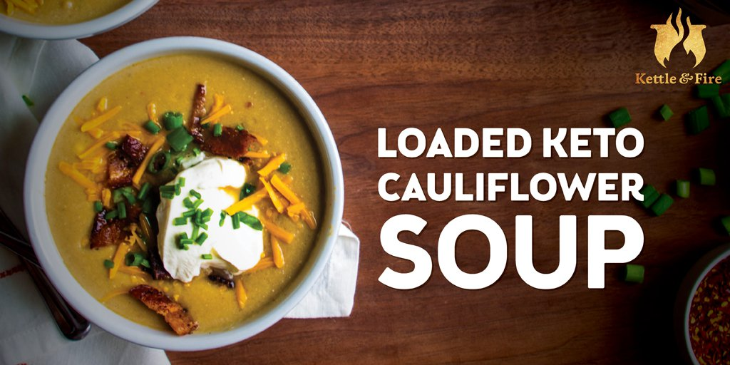 Easy Keto Meals: loaded keto cauliflower soup