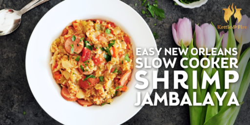 This creole shrimp jambalaya is spicy, hearty, and protein-packed. Best of all, the slow cooker does all of the work for you in an afternoon.