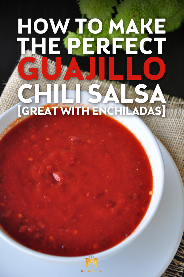 Give this traditional Mexican salsa recipe a try tonight. All you need is six ingredients and ten minutes until this guajillo chili salsa is ready to serve.