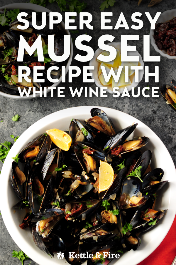 These restaurant-quality steamed mussels in white wine sauce are healthy, easy, and delicious. Ready in 25 and loaded with fresh flavor. Optional to serve with pasta.