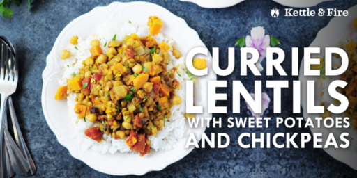 These one-pot curried lentils are gluten-free and hassle-free. You need only 11 simple ingredients. Protein-rich and flavored with addictive Indian spices.