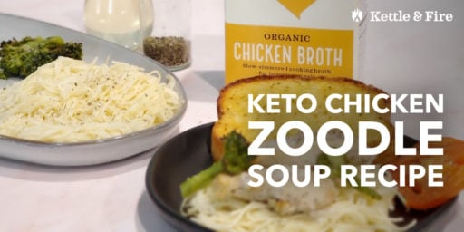Keto Chicken Zoodle Soup Recipe [low carb]